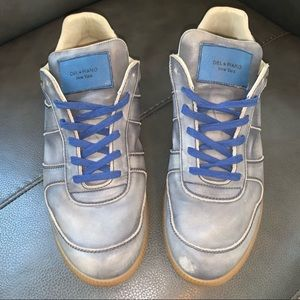 Del Piano New York Low Top Leather Sneaker Size 11